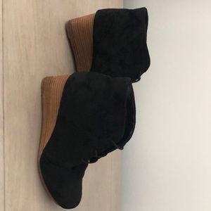 Dr. Scholl's Shoes - Sz 8.5, Dr. Scholls, Black Suede wedge shoes